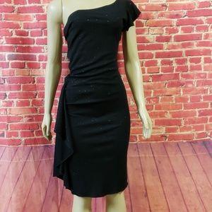 Windsor one shoulder Black dress NWOT Size M
